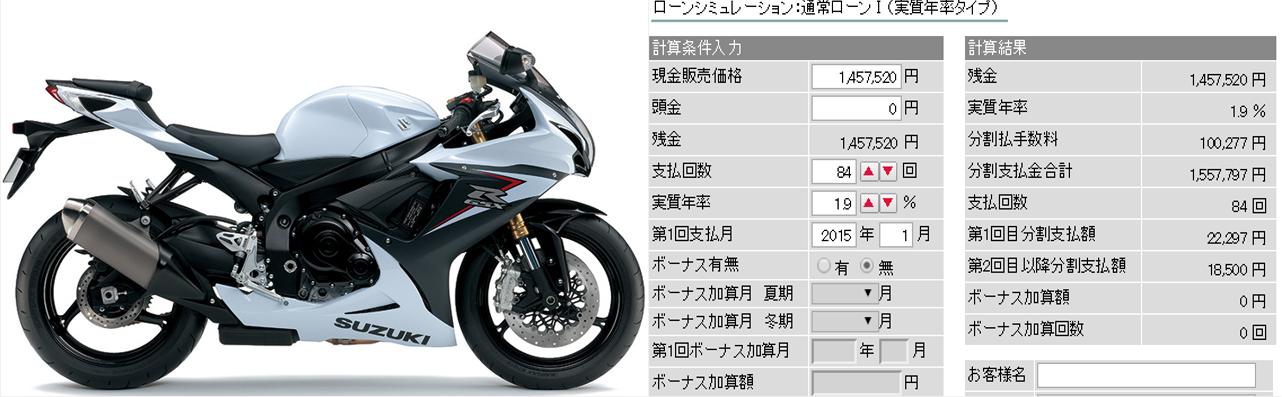 GSX-R750 ローン